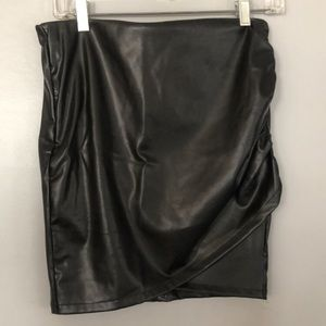 Divided Faux Leather Skirt (H&M) Size Small